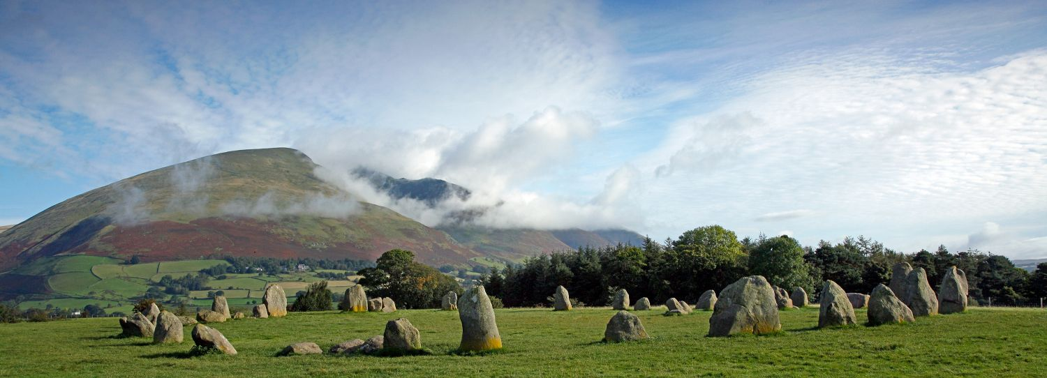 Clouds on Blencathra from Castlerigg Stone Circle