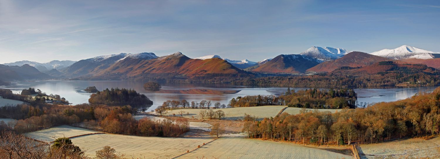 Derwentwater from Castlehead in winter