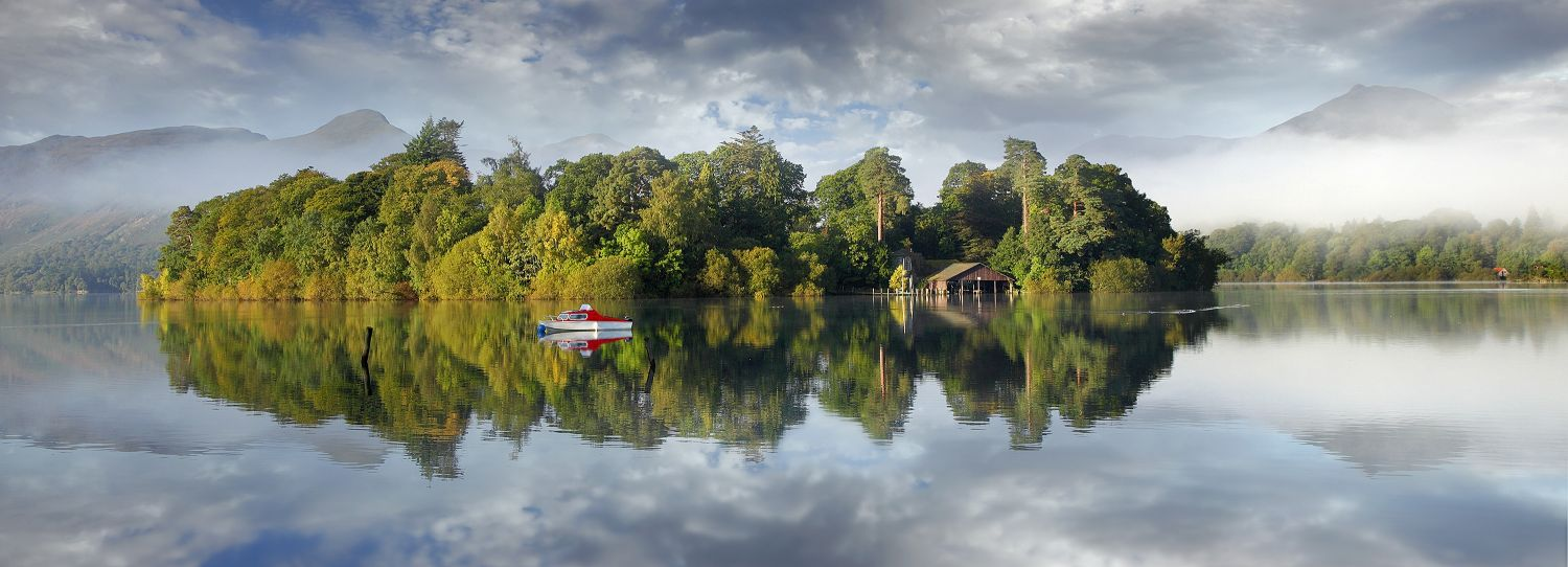 Early morning reflections of Derwent Isle - by Martin Lawrence