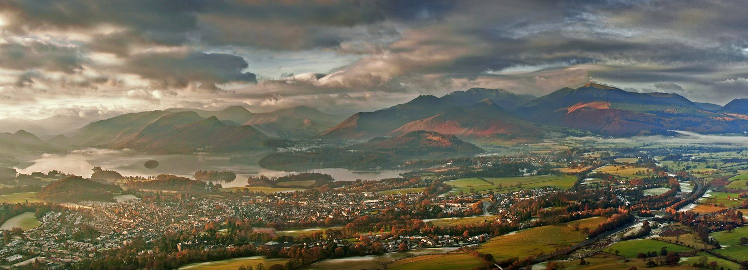 Late afternoon storm over Keswick from Latrigg
