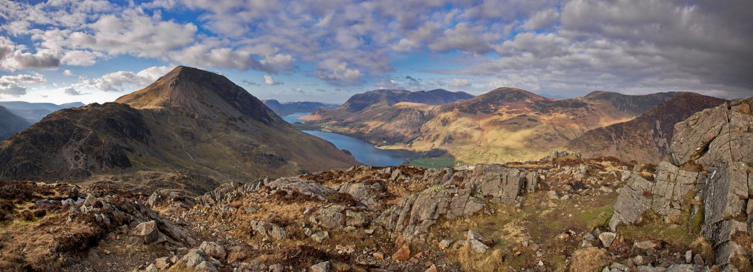 High Crag and Crummock Water from Haystacks
