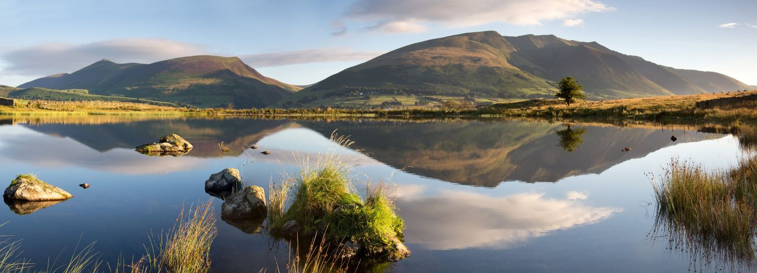 Reflections of Blencathra and Skiddaw