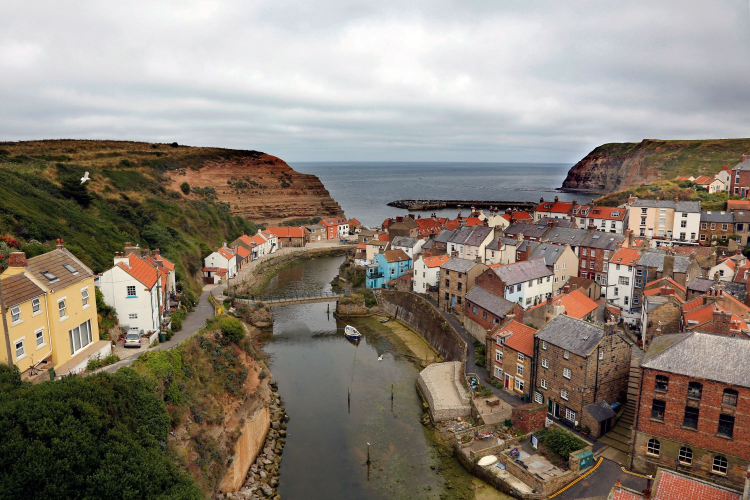 Staithes Village in North Yorkshire