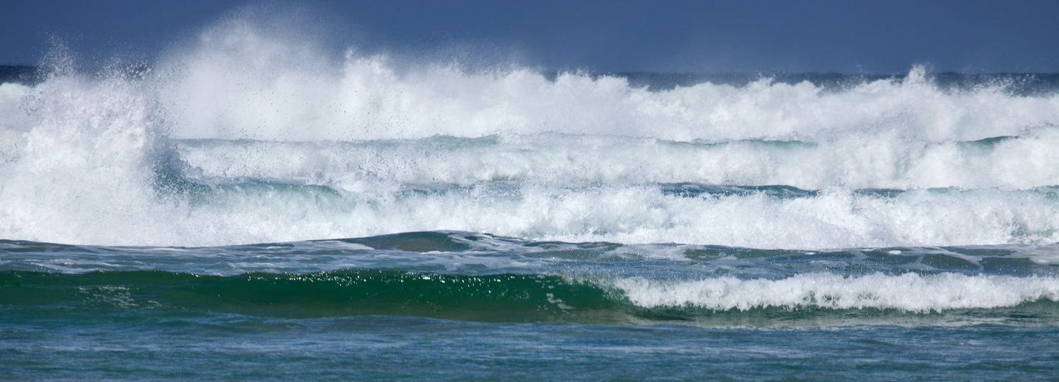 The surf roling in on Cliff Beach Uig Isle of Lewis