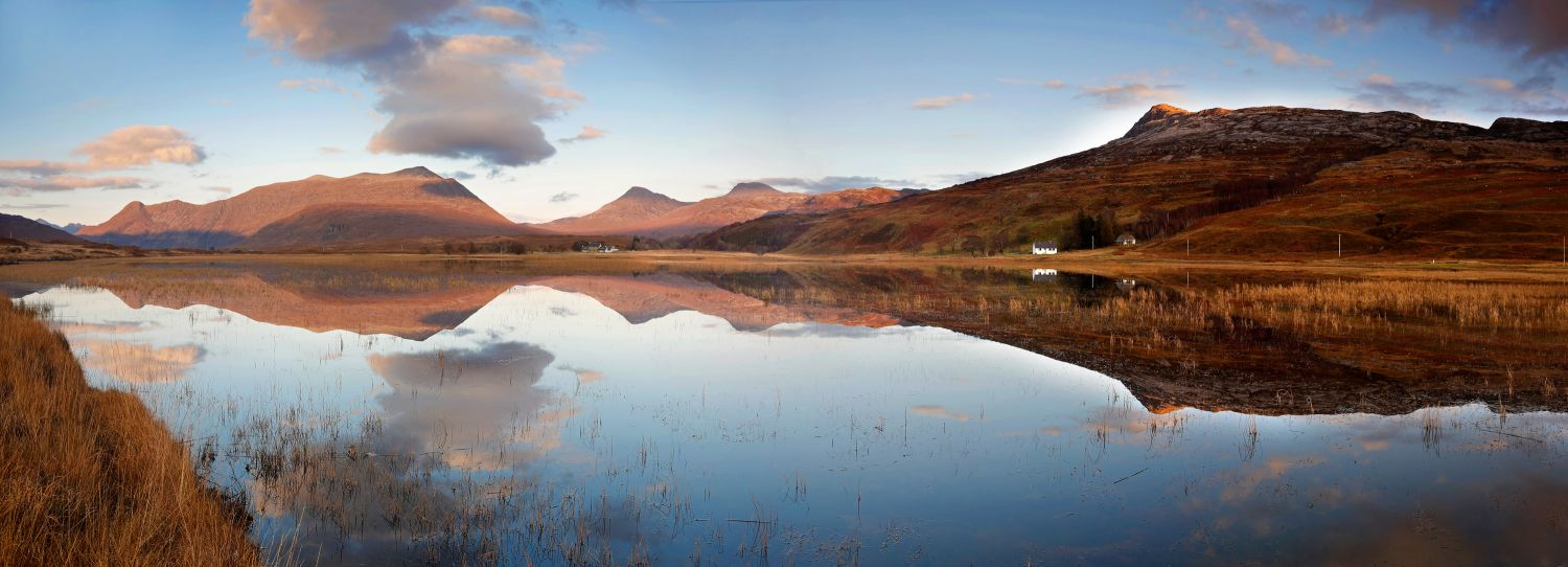 Reflections of Beinn Damh in Loch Coultrie