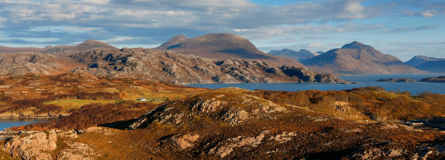 Loch Torridon & Beinn Alligin from the start of the Applecross Coastal Road