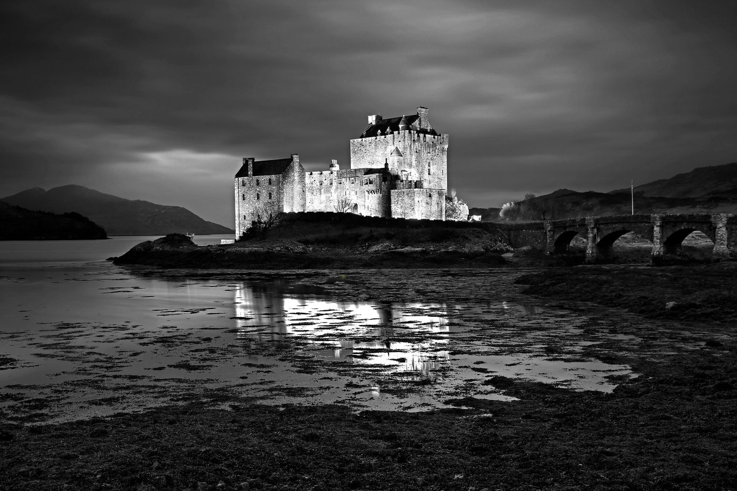 Late evening light on Eilean Donan Castle