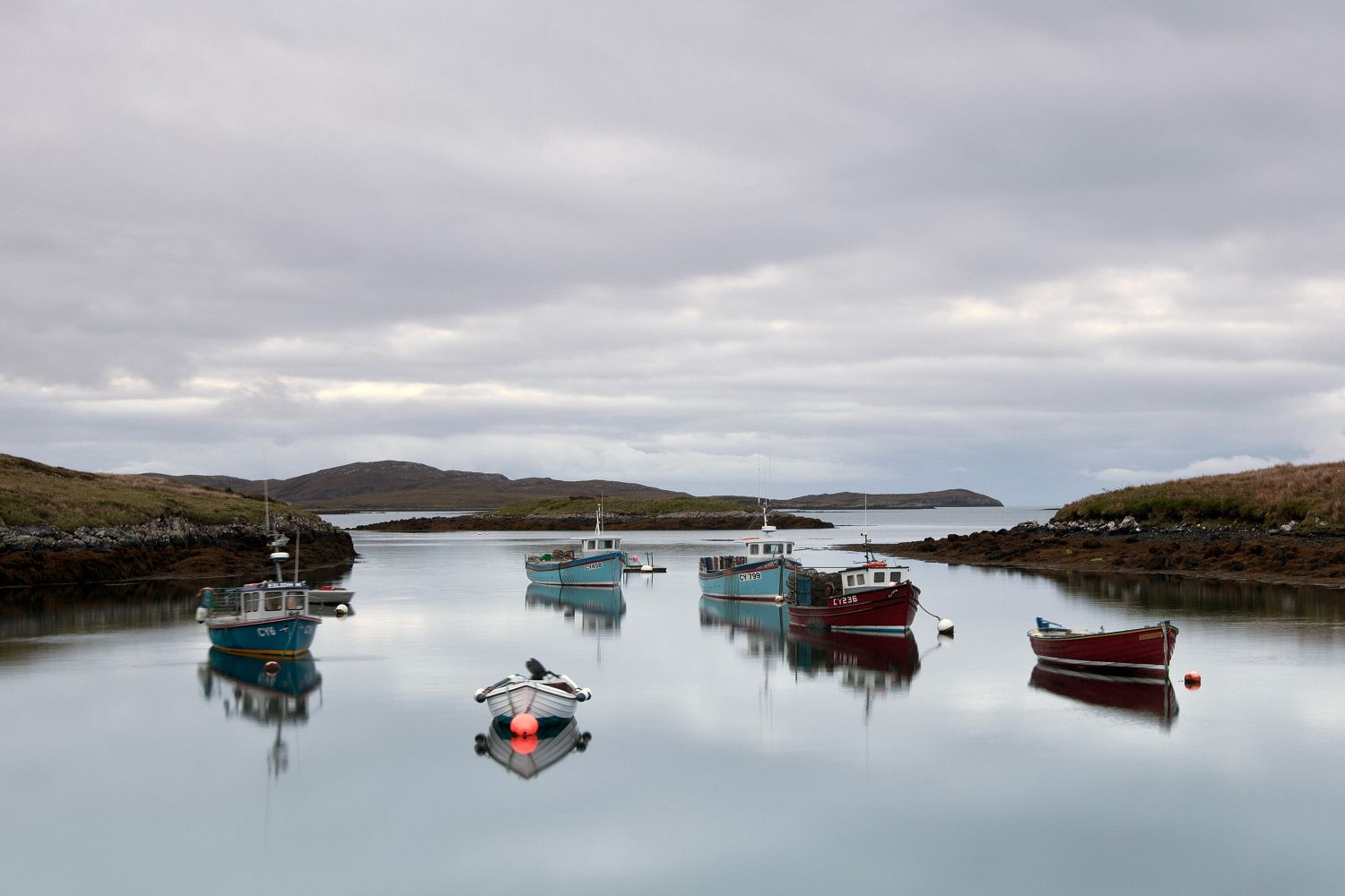 Lochmaddy on North Uist, Outer Hebrides