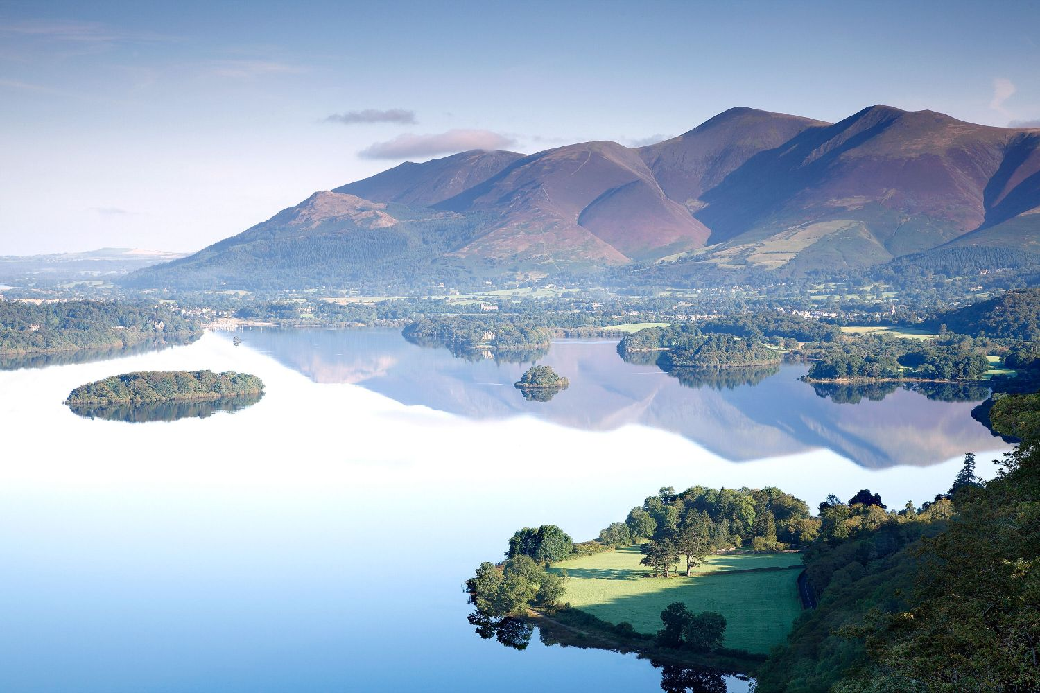 Reflections of Skiddaw from Surprise View, Derwentwater
