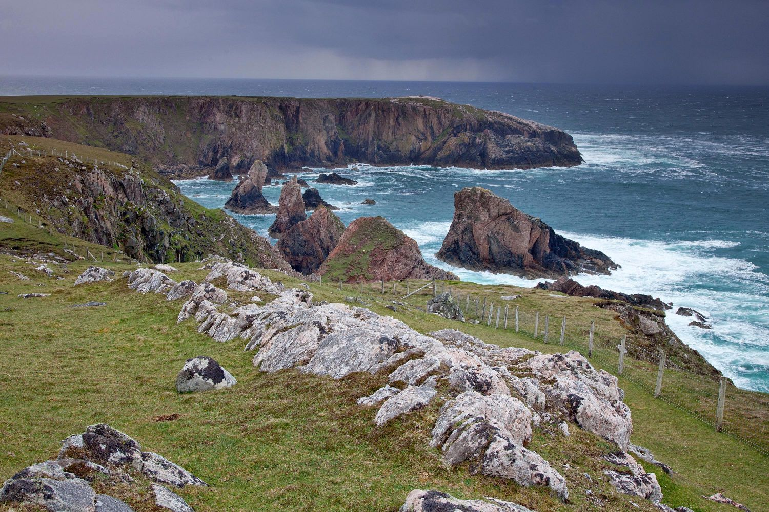 The seastacks of Aird Fenish, Isle of Lewis