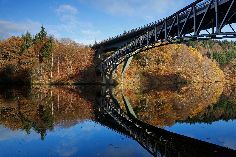 Loch Faskally Bridge reflections