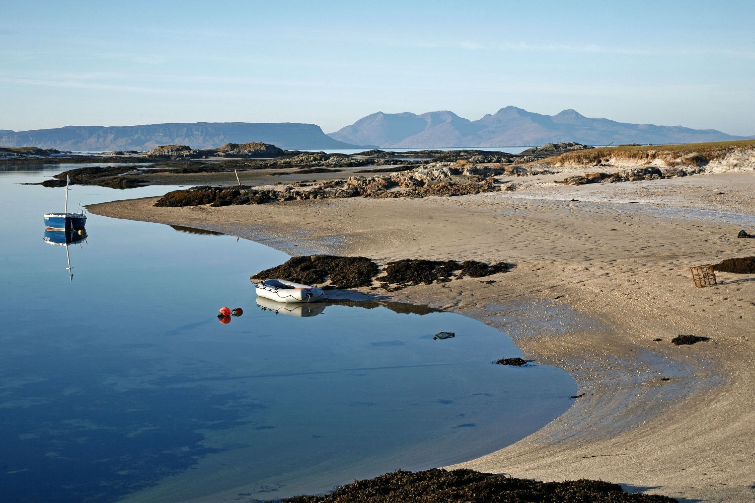 Eigg and Rum from Caimbe Beach