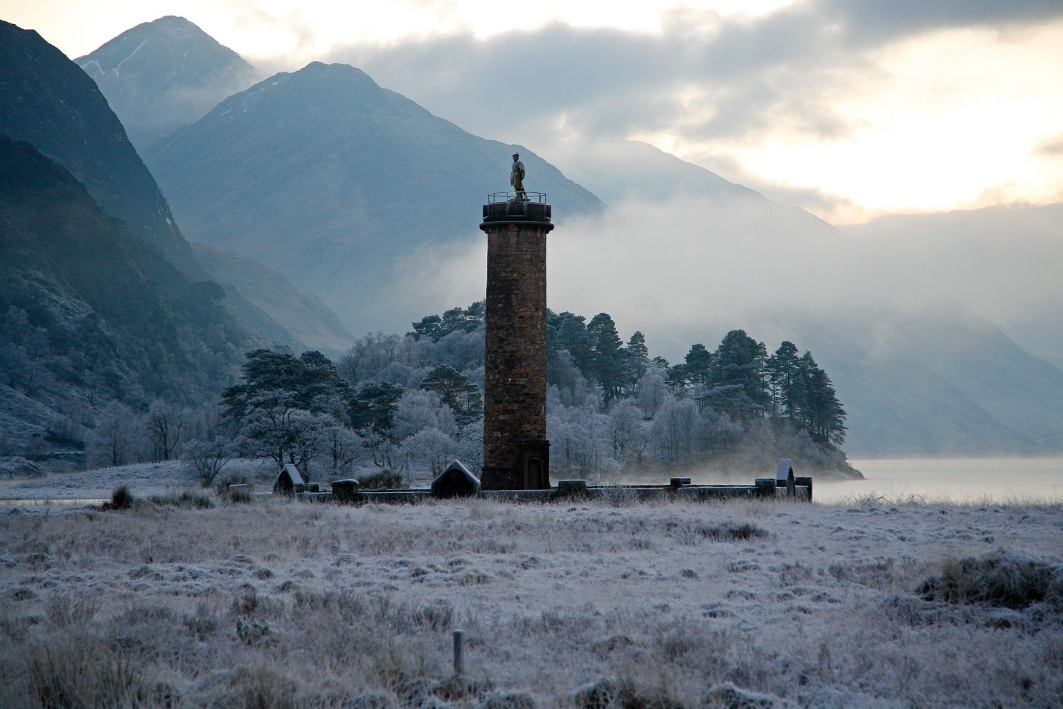 Frosty evening at Glenfinnan Monument