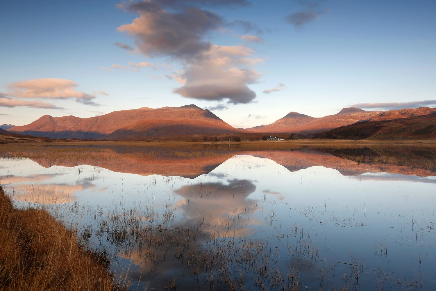 Beinn Damh reflected in Loch Coultrie