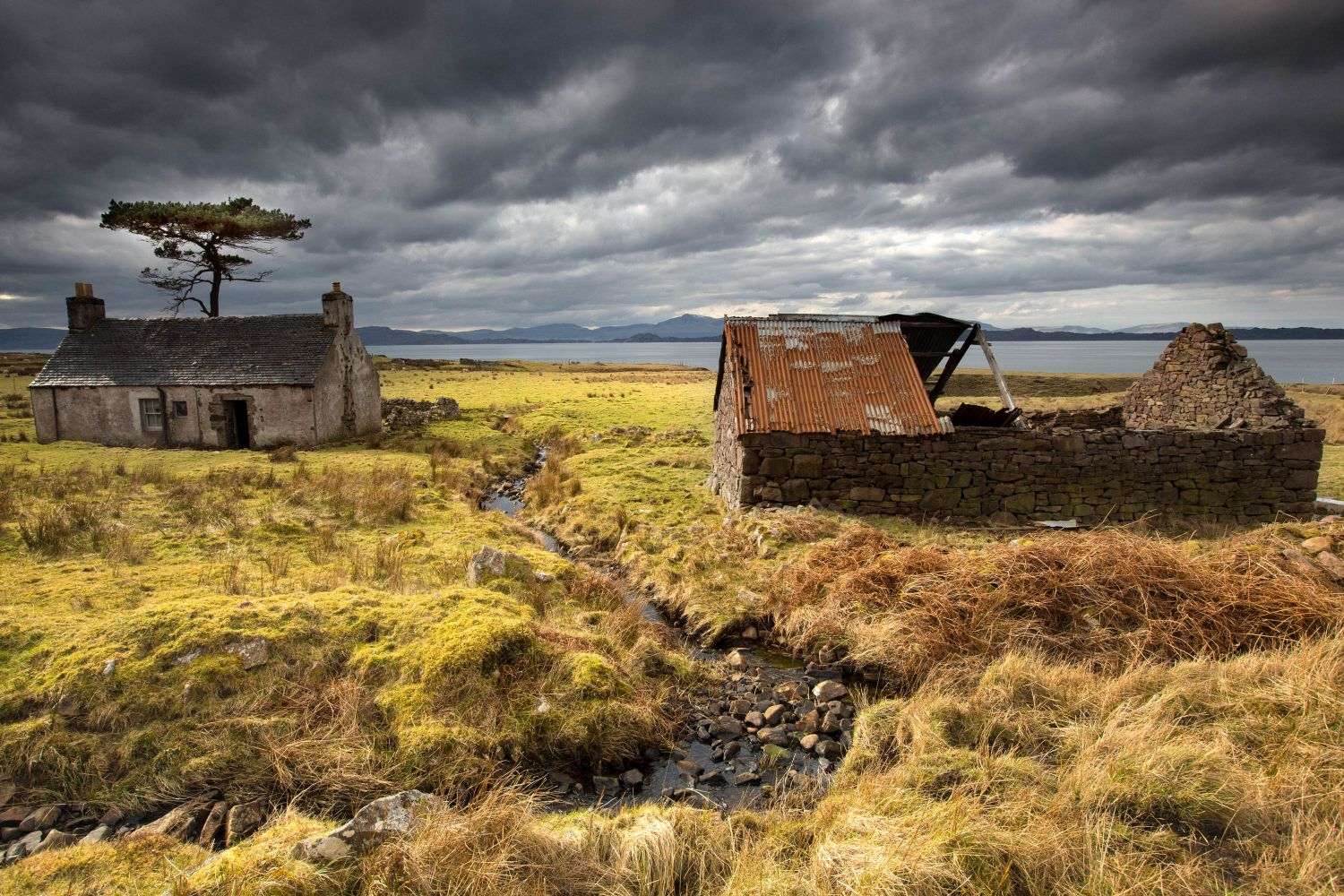 Abandoned croft at Kalnakill
