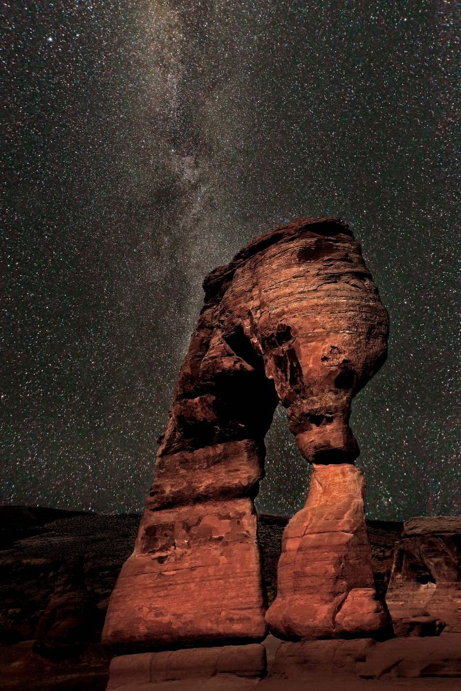 Milky Way above Delicate Arch, Arches National Park