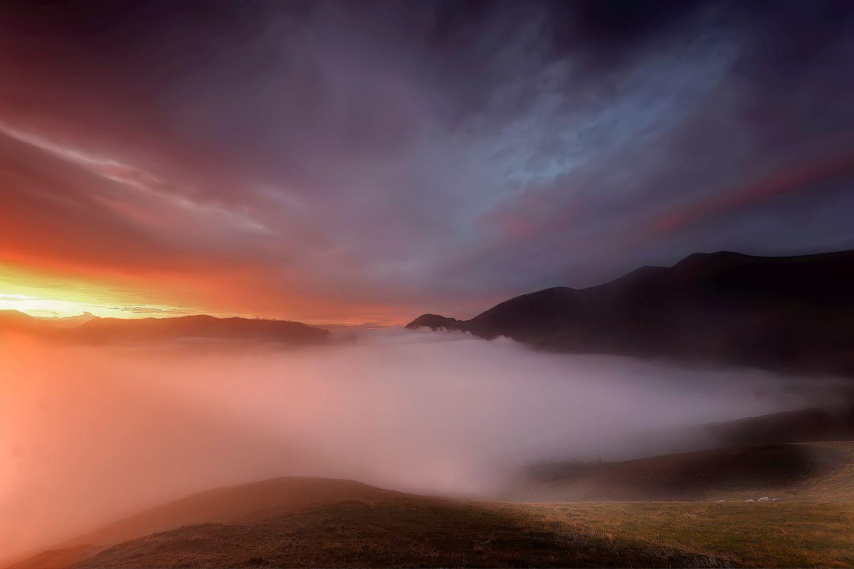 Cloud inversion over the Bassenthwaite Valley