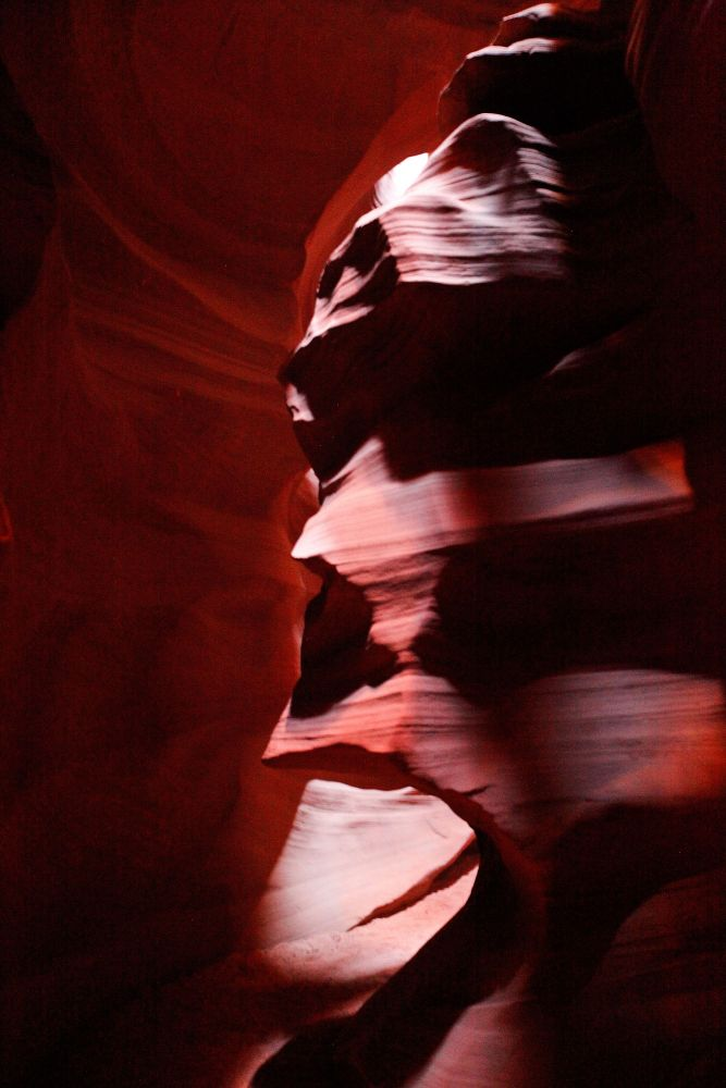 The Face at Upper Antelope Canyon