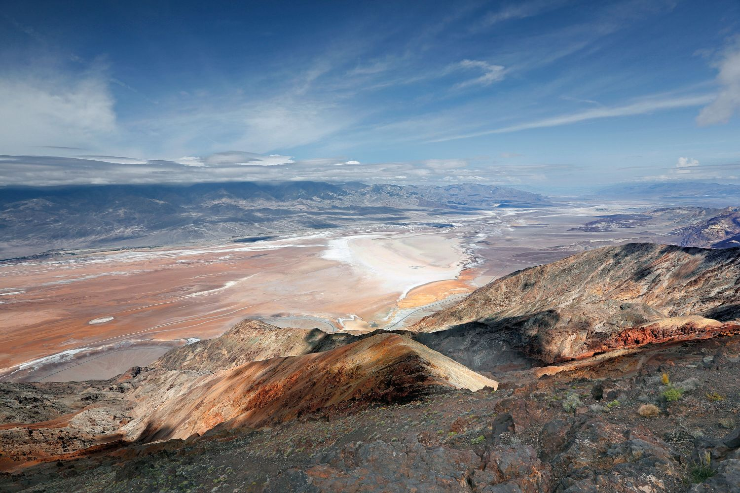 Dante's View, Death Valley is more that 5,000 ft above the valley floor