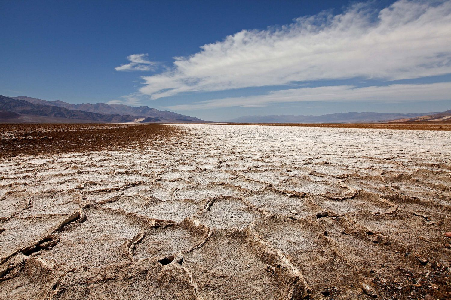 Devils Speedway, Death Valley is a salt pan noted to be the lowest point in North America