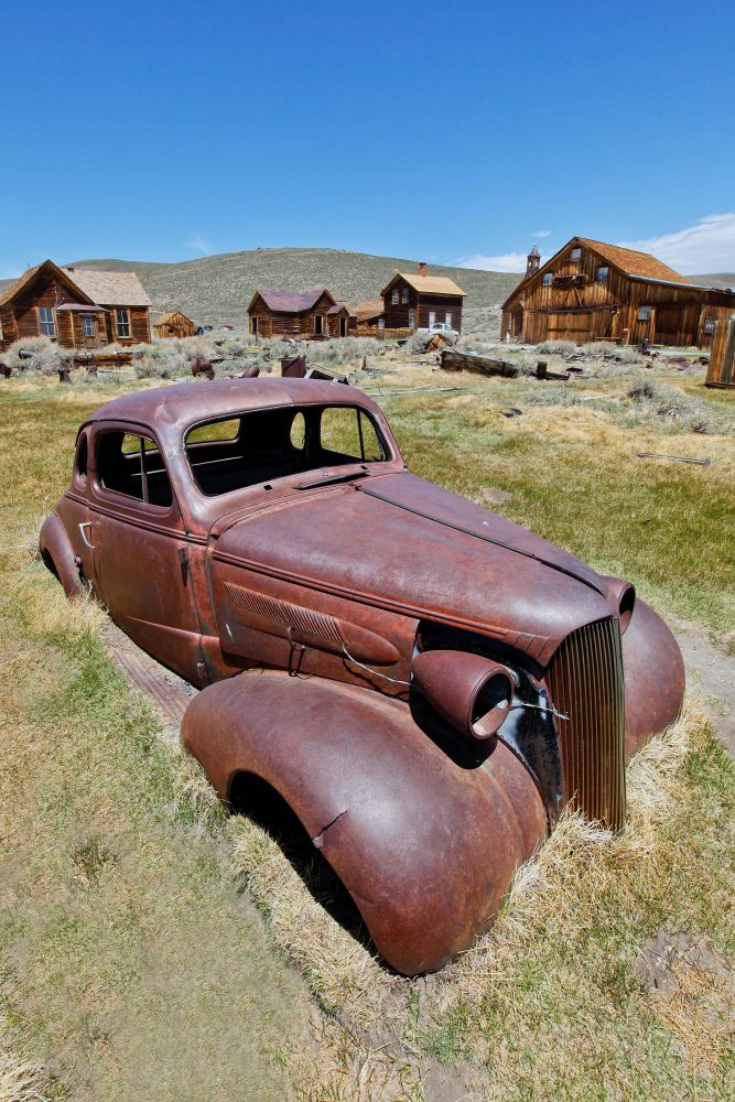 Rusted car at Bodie Ghost Town a dream location for all photographers