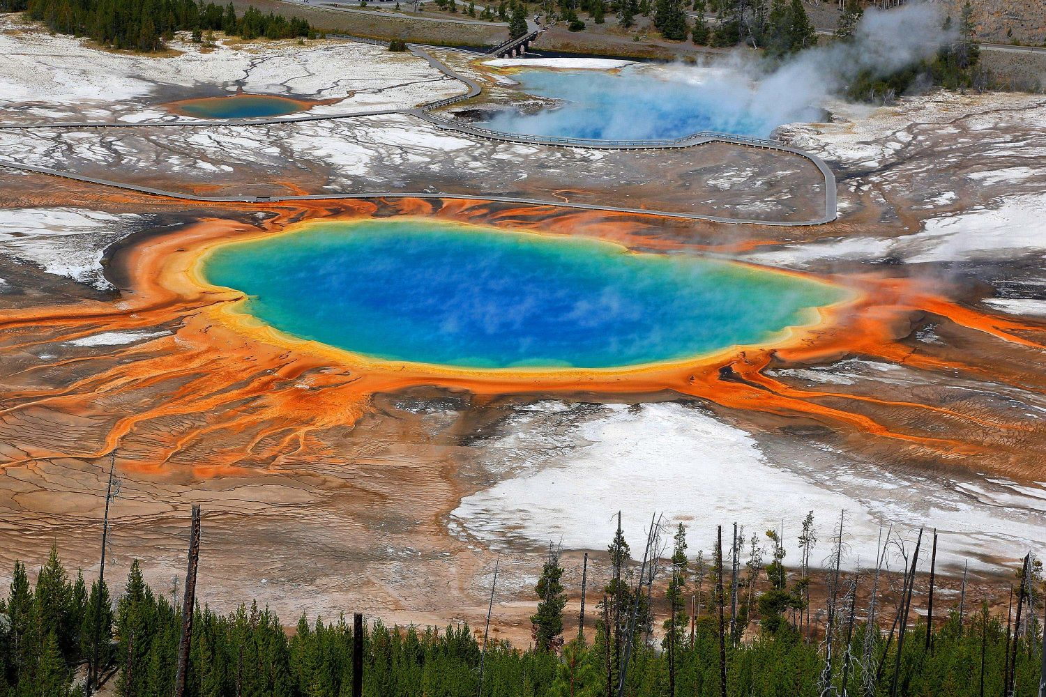 An Aerial View of Grand Prismatic Spring, Yellowstone National Park