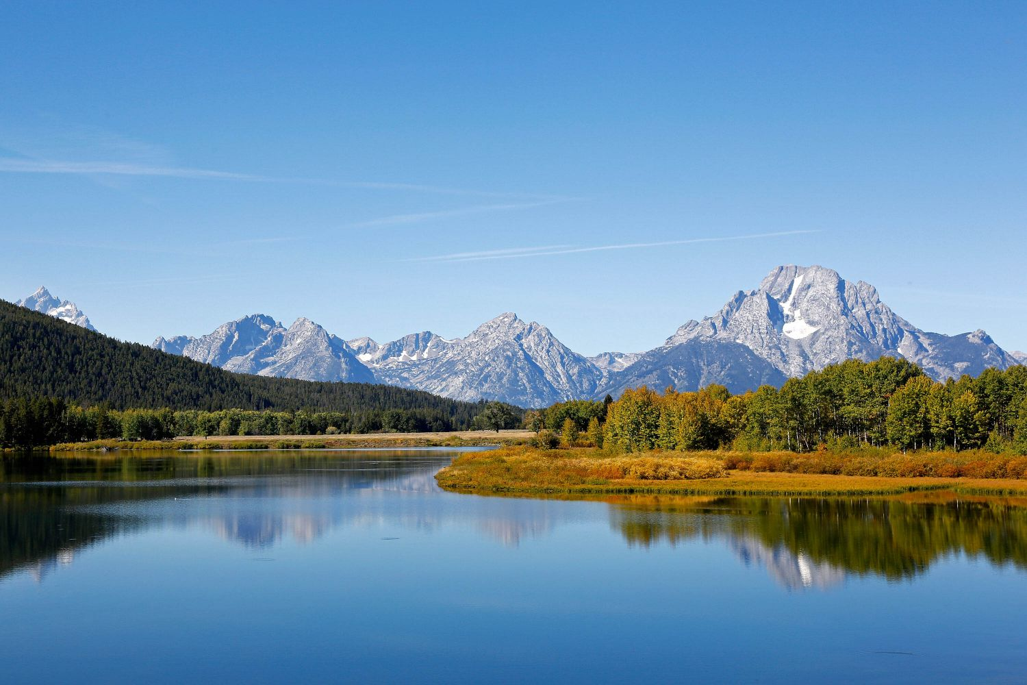 Mount Moran, Snake River at Oxbow Bend Grand Teton