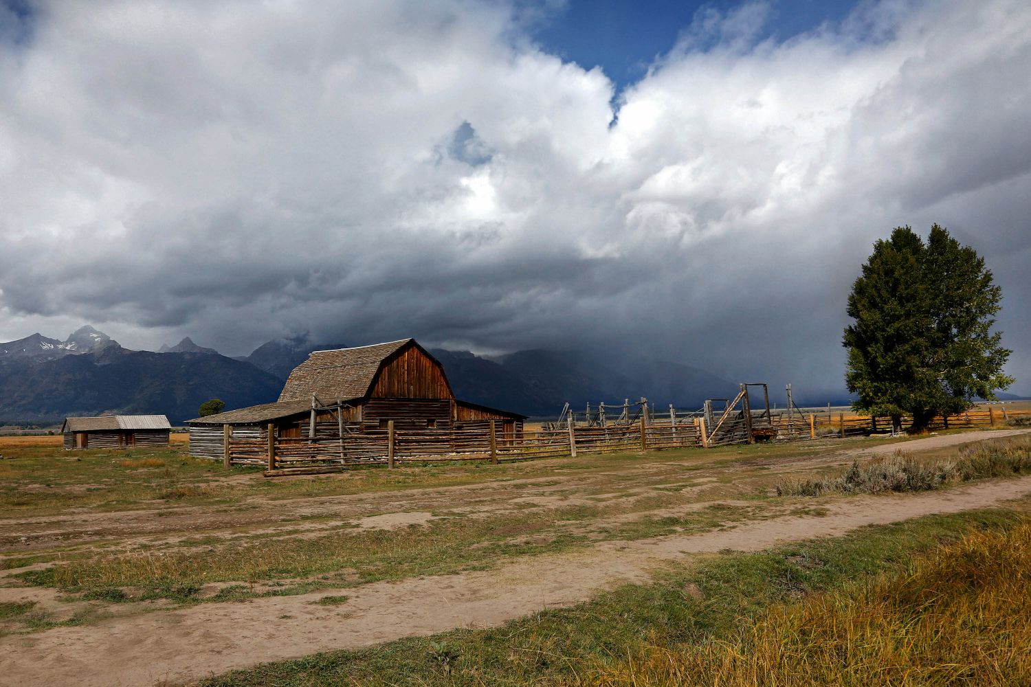 Storm over the Mormon Barns, Grand Teton