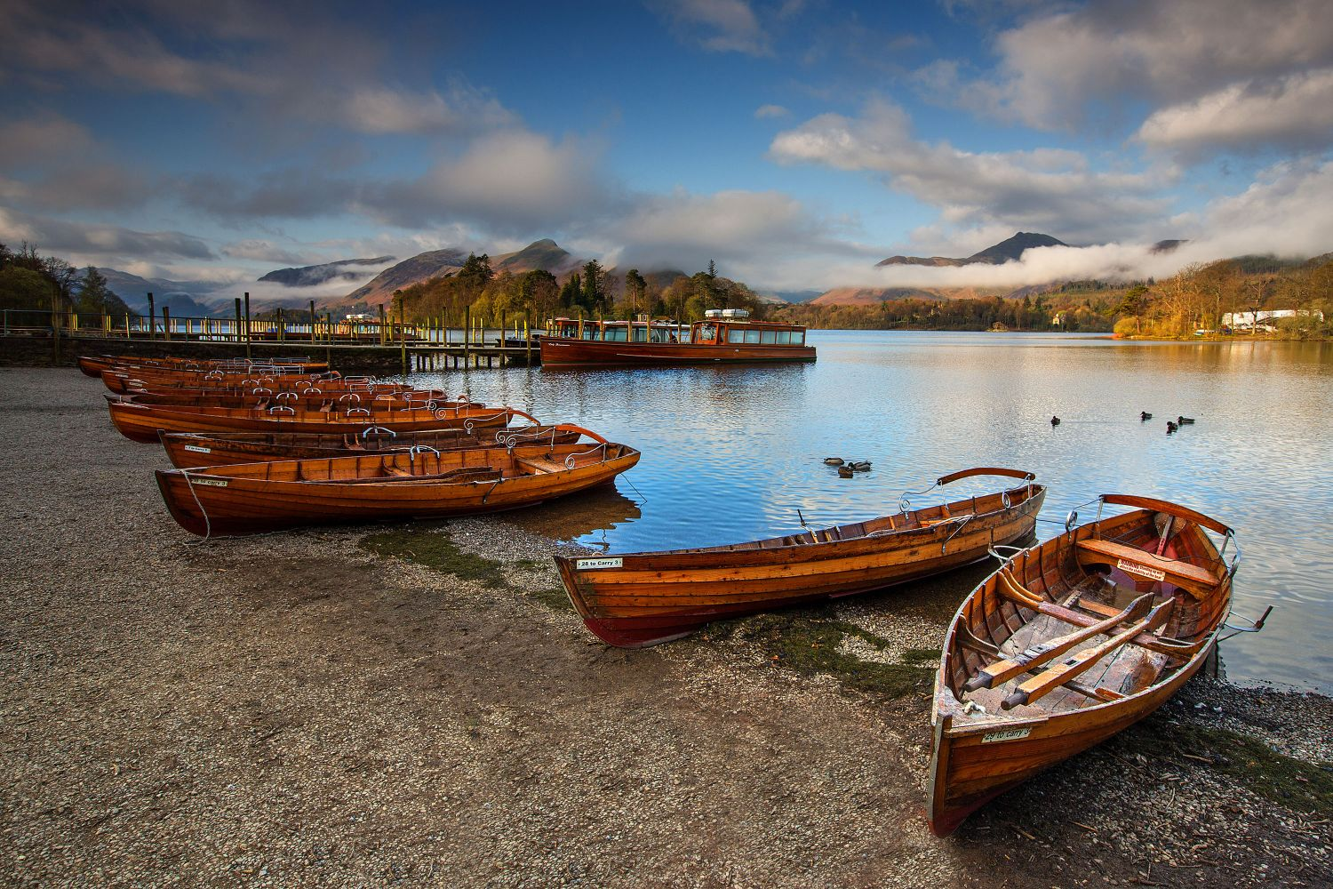 Start of a new day at Keswick Boat Landings