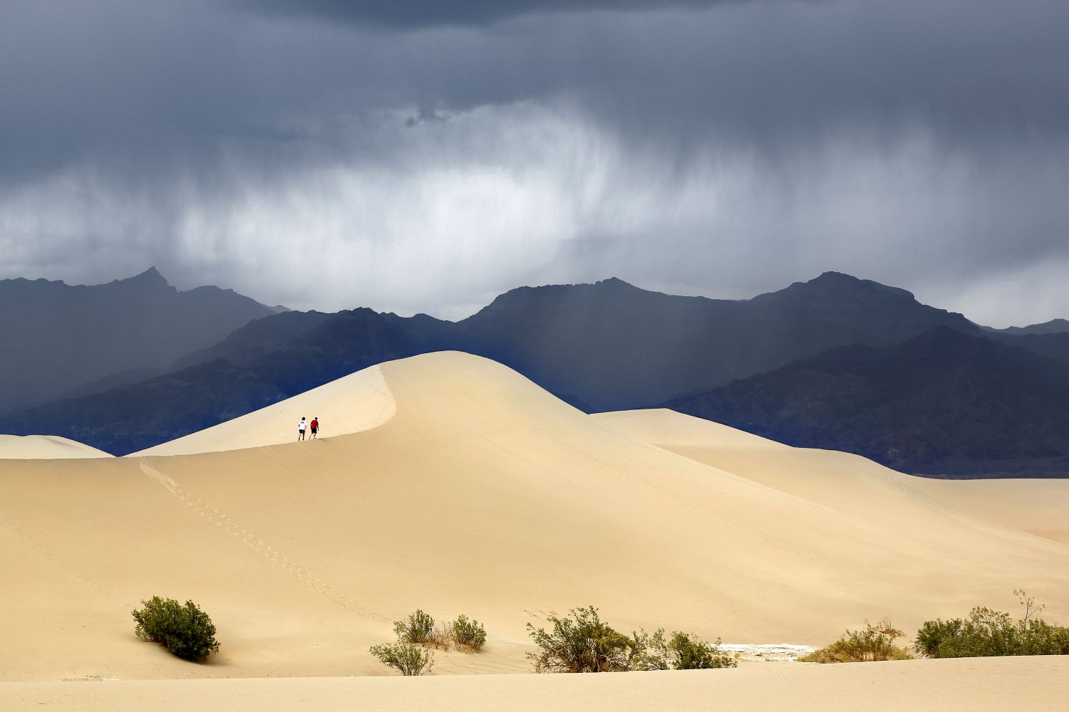 Storm approaching Mesquite Flat Sand Dunes, Death Valley