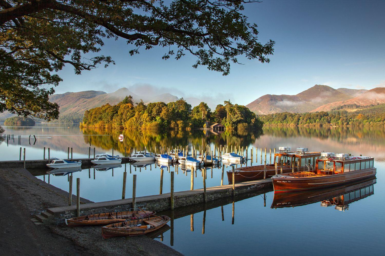 Keswick Boat Landings on a beautiful summer morning