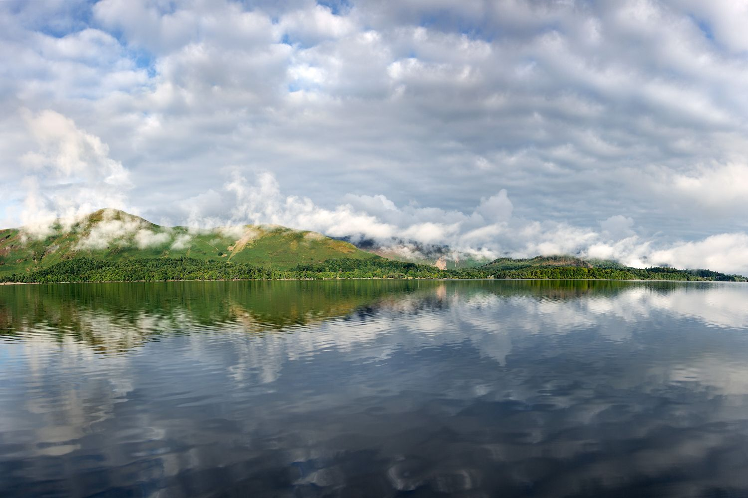 Beautiful cloud formations over Catbells taken from Ashness Gate