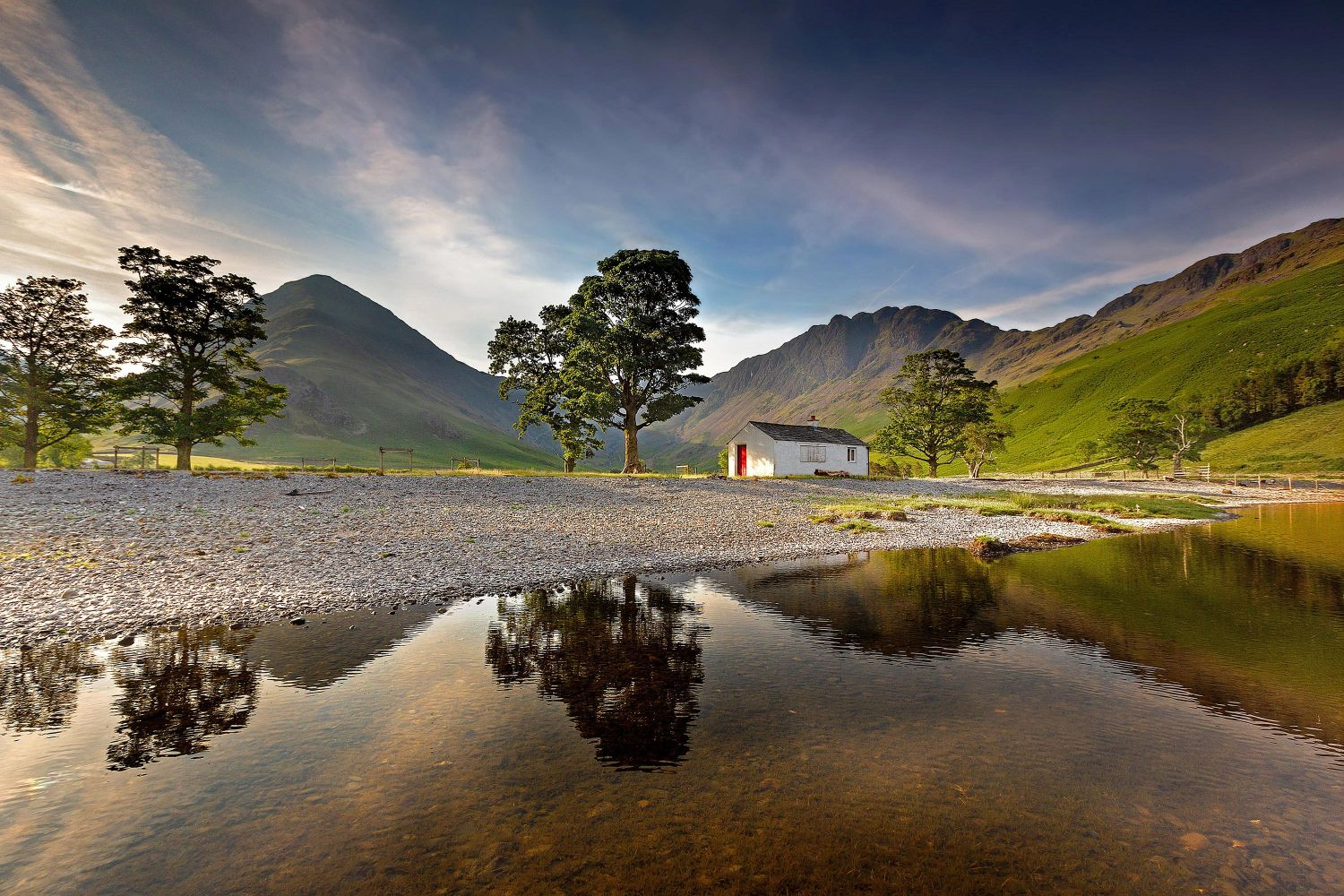 Haystacks and Fleetwith Pike in the golden hour at Buttermere