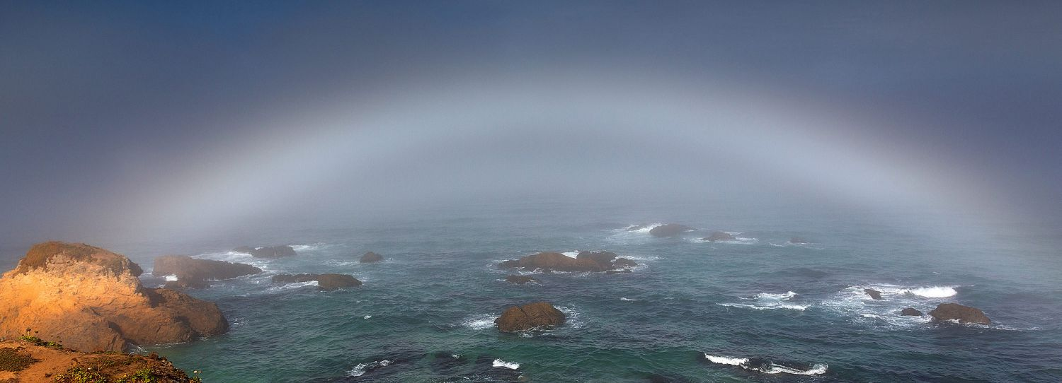 Fogbow across the Pacific Ocean from MacKerricher State Park