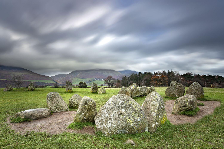 Wind swept skies at Castlerigg Stone Circle