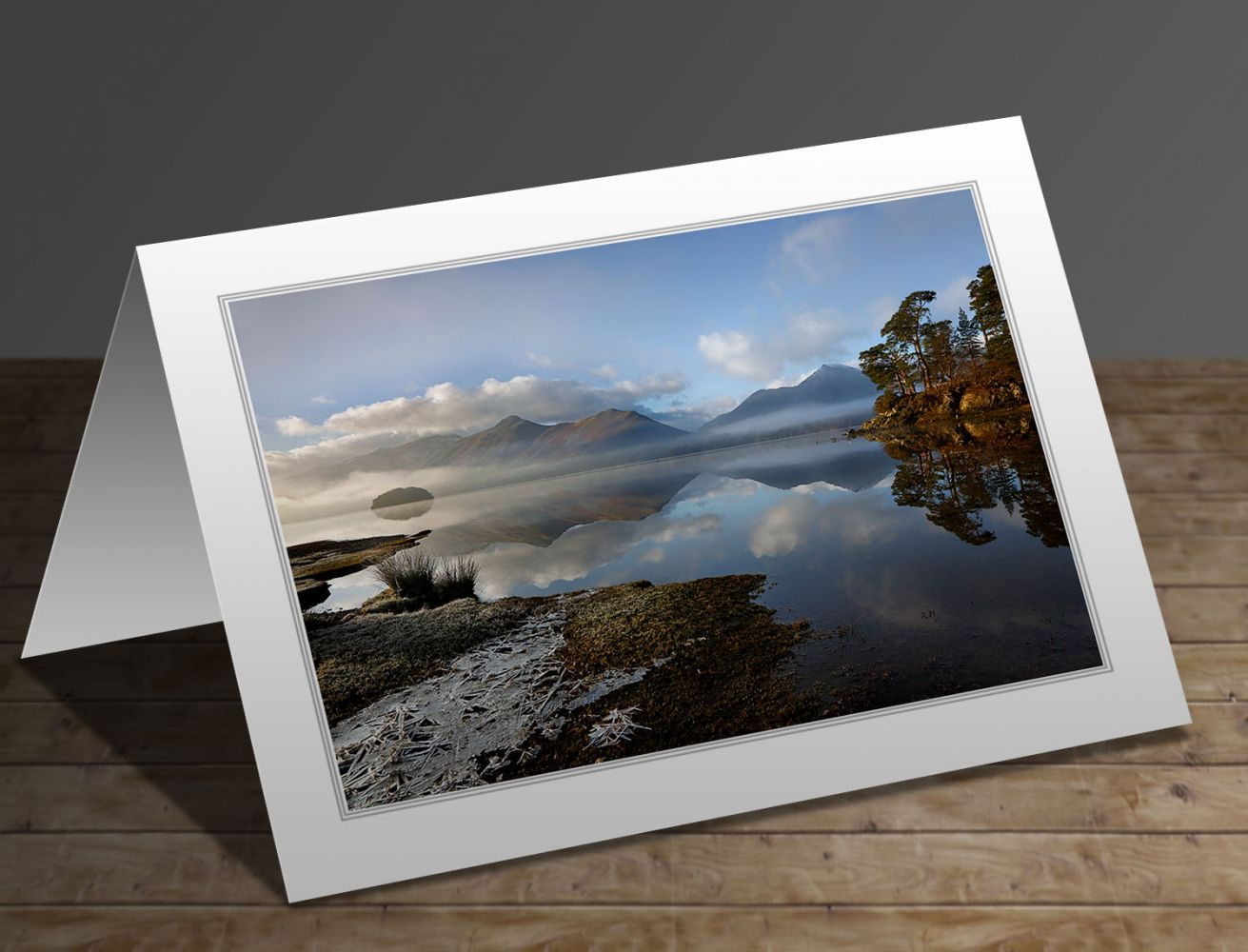 A perfect day at Derwentwater Lake District greeting card