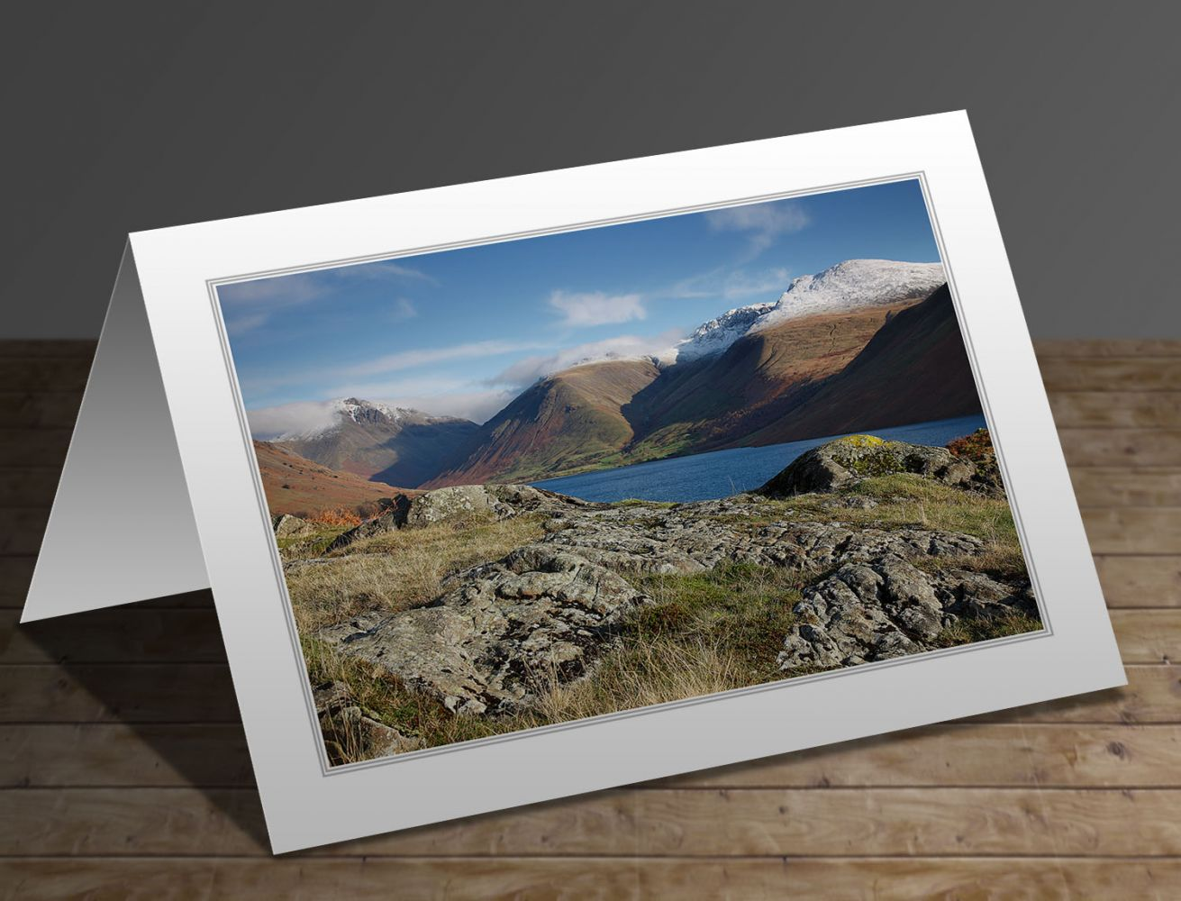 Snow on Scafell Pike Lake District greeting card