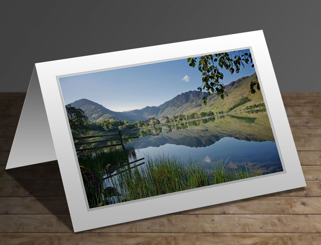 Fleetwith Pike and Haystacks, Buttermere Lake District greeting card