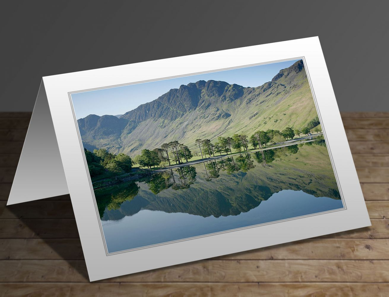 Haystacks reflected in Buttermere Lake District greeting card