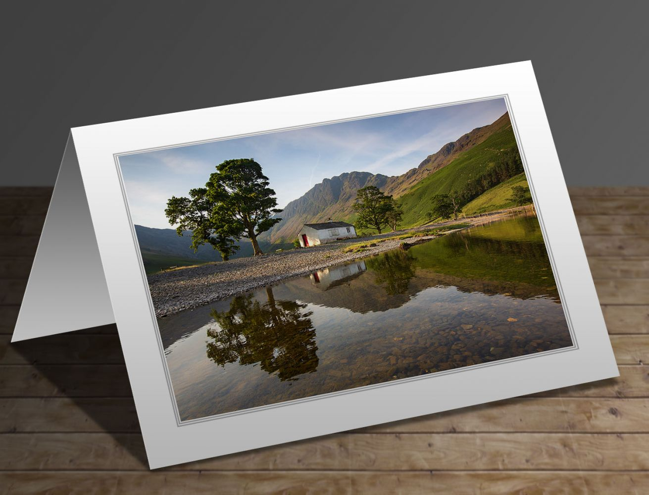Sunrise over Haystacks at Buttermere Lake District greeting card