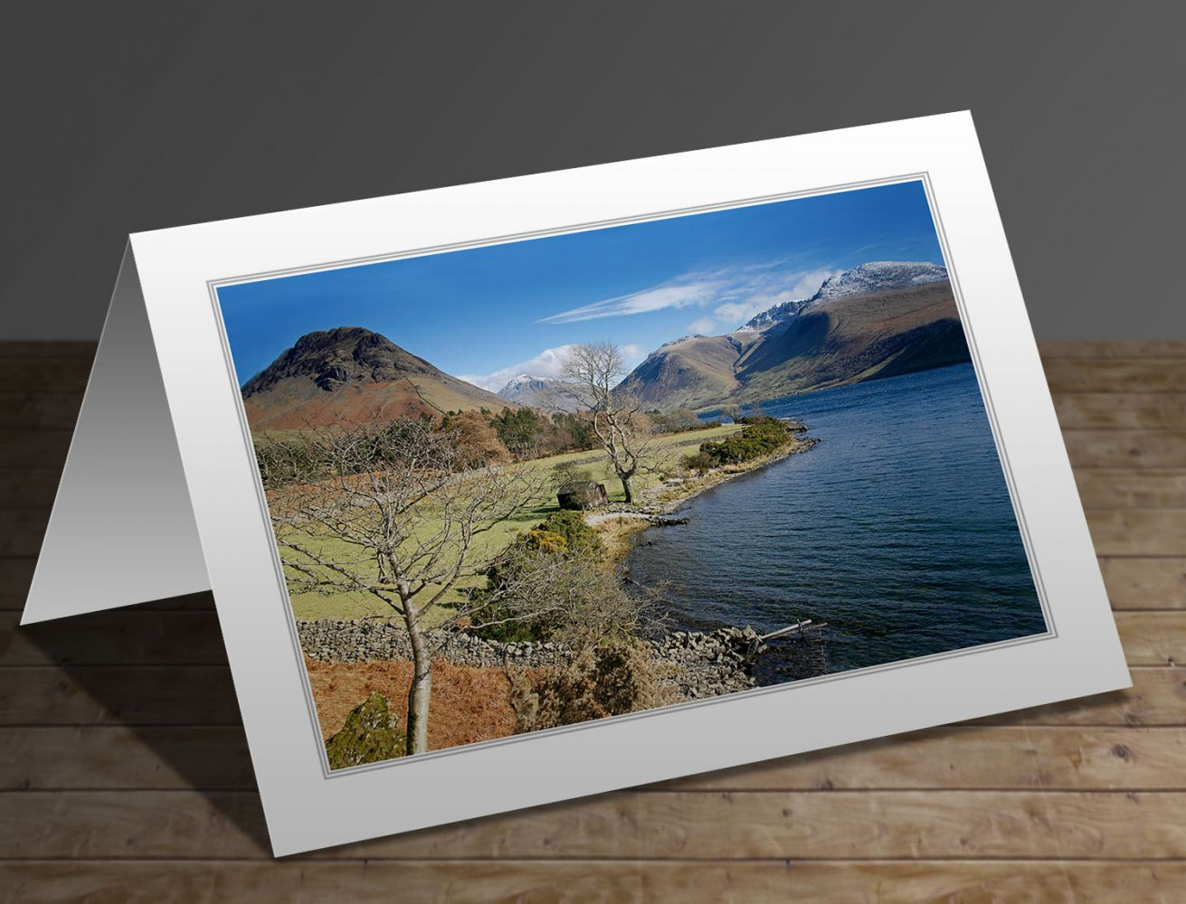 A greeting card containing the image Yewbarrow and Wasdale Head, Wastwater in the English Lake District by Martin Lawrence