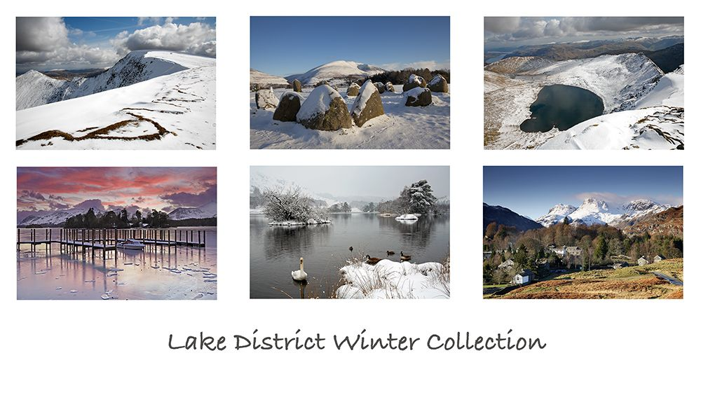 A pack of 6 Lake District Greeting cards featuring stunningsnowy images of some of the beautifulEnglishLake District lakes and mountains.