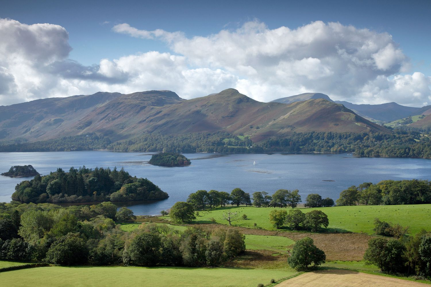 Catbells and Maiden Moor seen across Derwentwater from Castlehead