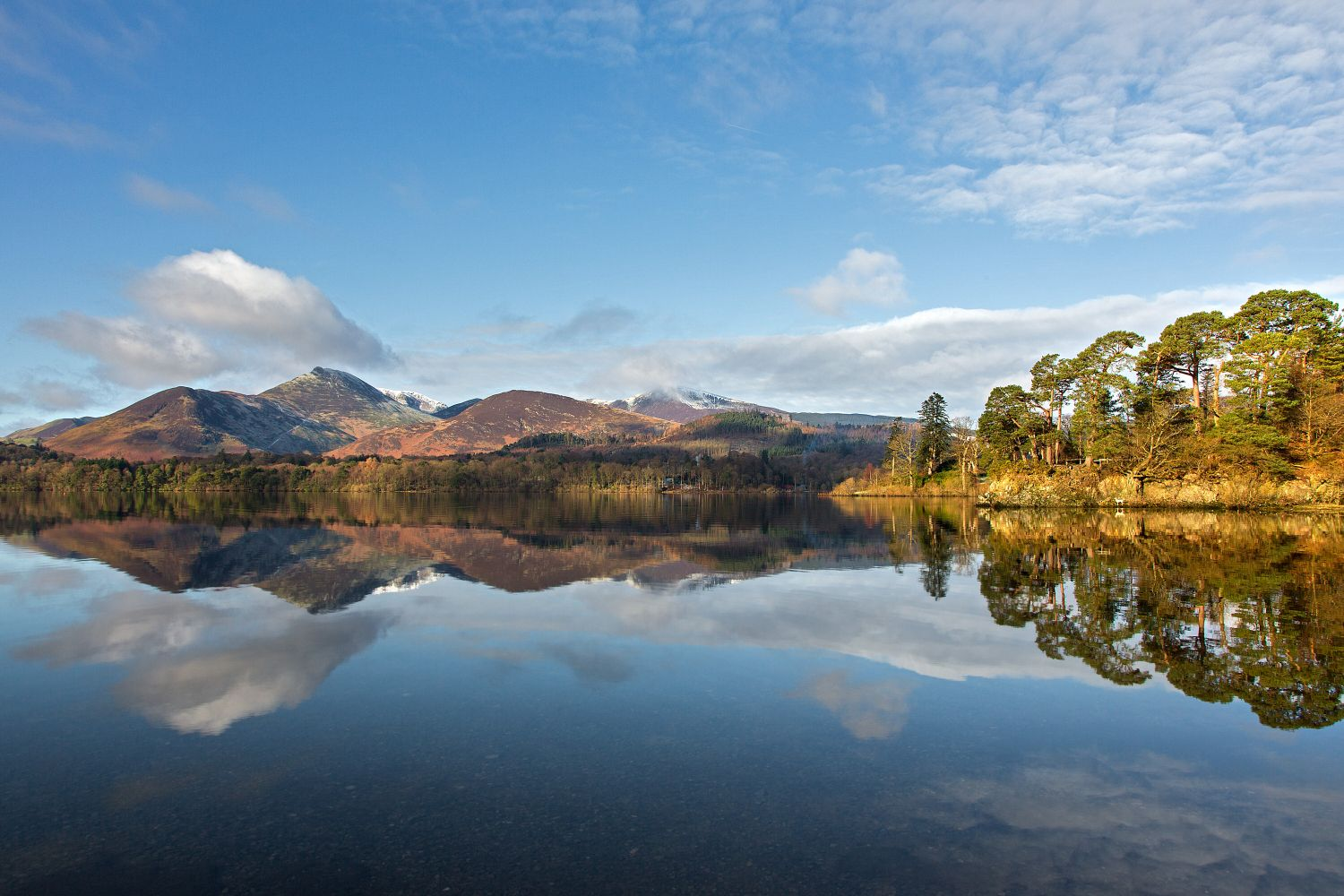 Causey Pike seen across Derwentwater from Friars Crag
