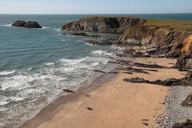 The beautiful beach of Traeth Llyfn