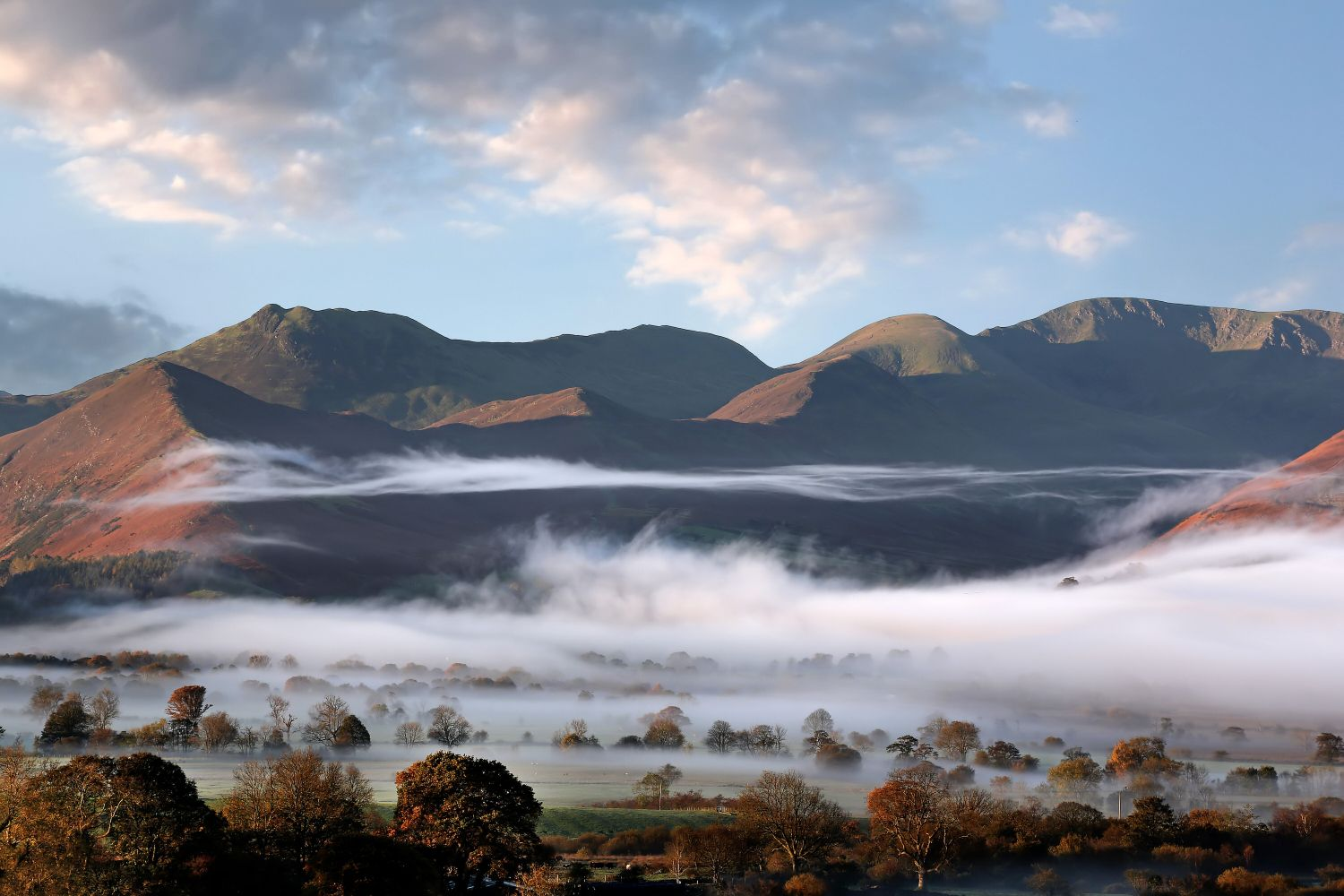 Low cloud in the Bassenthwaite Valley