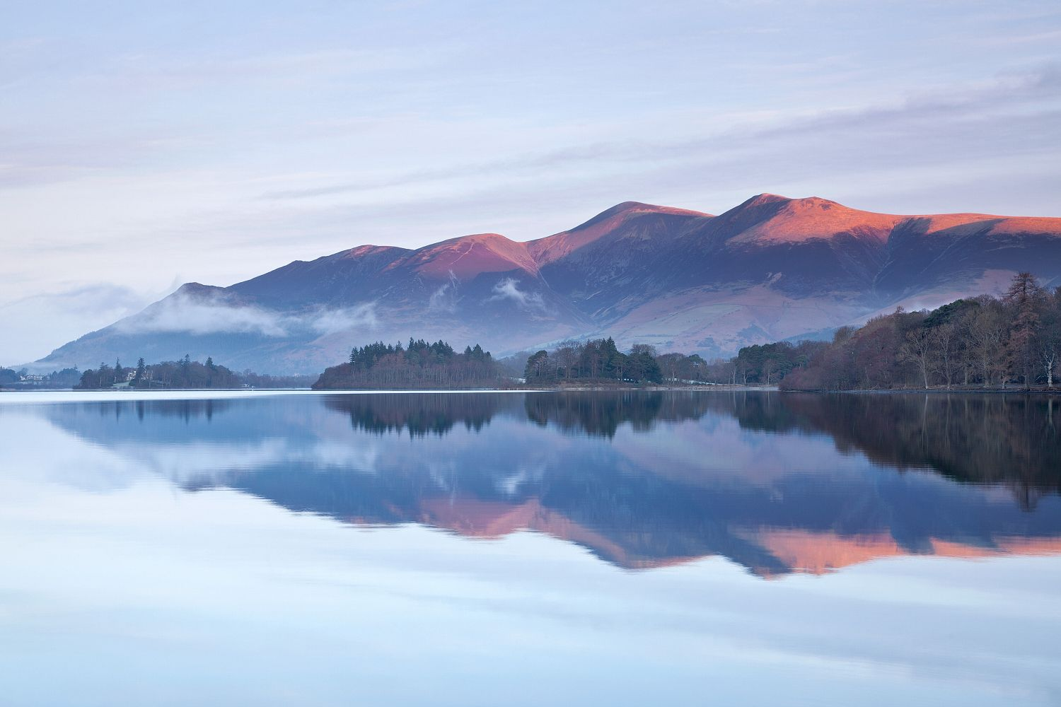 Skiddaw in early morning light from Ashness Gate in Borrowdale.