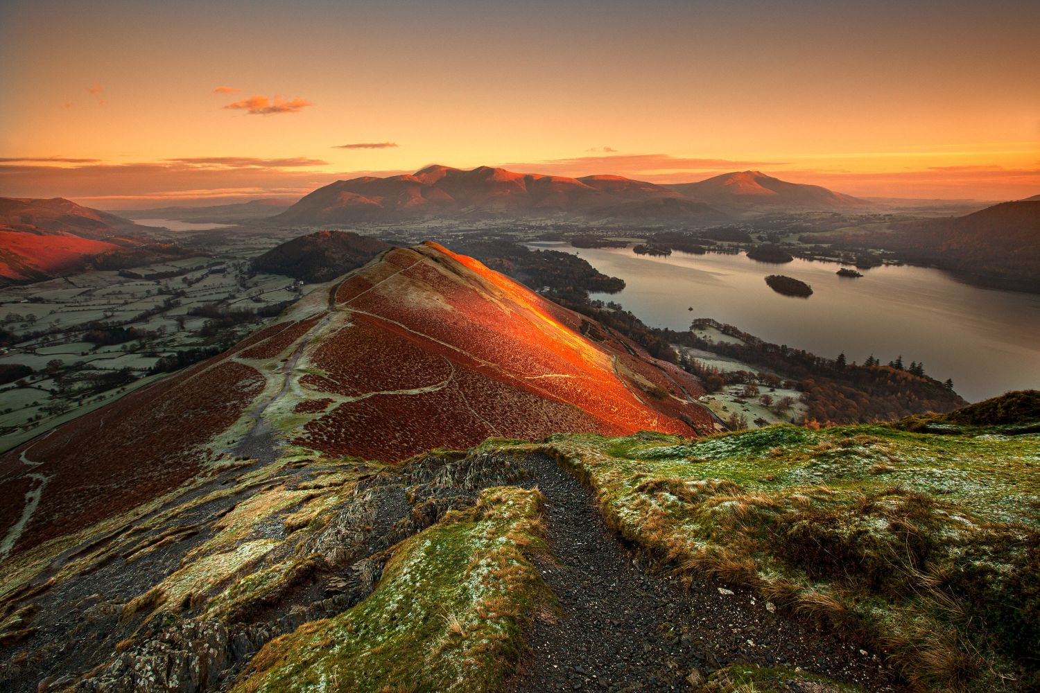 First Light on Catbells and Skiddaw