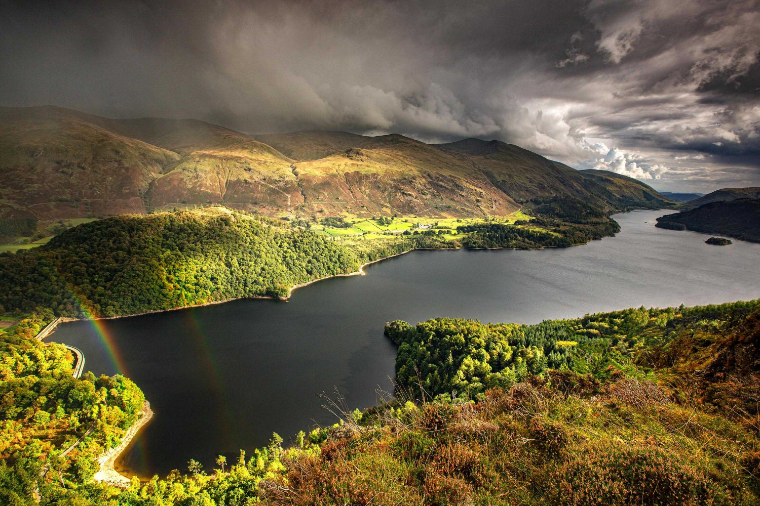 Storm clouds gather over Thirlmere
